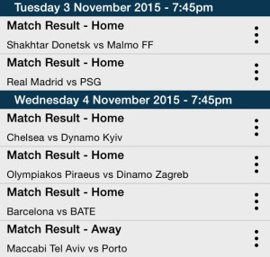 Champions League Bet Tips