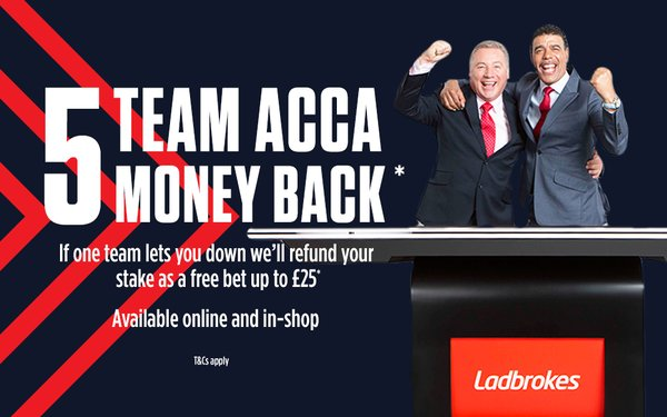 Ladbrokes Free Bet - Acca Insurance Offer