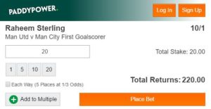 Manchester Derby Betting Tips - Paddy Power