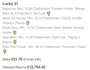Friday's Cheltenham Betting Tips