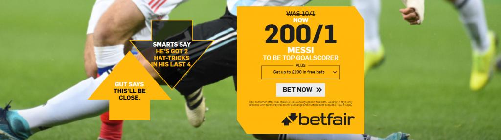 Betfair Messi