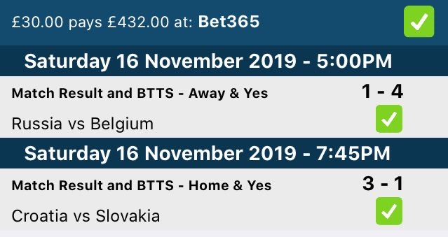 BTTS And Win Winners